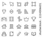 set of basic ui ux interface... | Shutterstock .eps vector #1114306631
