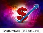 3d rendering dollar symbol with ...   Shutterstock . vector #1114312541