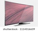 curved tv screen lcd  plasma... | Shutterstock .eps vector #1114316639
