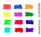vector set of colorful brush... | Shutterstock .eps vector #1114328285