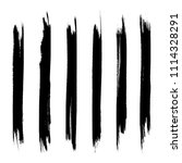 vector set of grunge brush... | Shutterstock .eps vector #1114328291