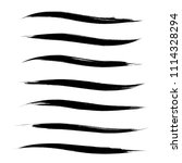 vector set of grunge brush... | Shutterstock .eps vector #1114328294