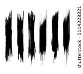 vector set of grunge brush...   Shutterstock .eps vector #1114328321