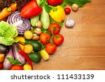 composition of fresh organic... | Shutterstock . vector #111433139