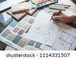 architect designer interior... | Shutterstock . vector #1114331507