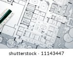 plans and blueprints for an... | Shutterstock . vector #11143447