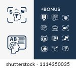 idea icon set and design with...