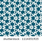 seamless pattern with symmetric ... | Shutterstock .eps vector #1114351925
