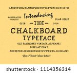 original handmade alphabet.... | Shutterstock .eps vector #1114356314