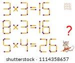 logic puzzle game. tasks on... | Shutterstock .eps vector #1114358657
