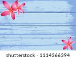spa background with frangipani... | Shutterstock .eps vector #1114366394