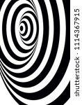 optical illusion with circles   Shutterstock .eps vector #1114367915