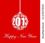 stylized new year 2013 ornament ...