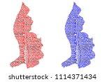 sketch liechtenstein letter... | Shutterstock .eps vector #1114371434