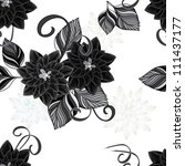 abstract flower seamless... | Shutterstock .eps vector #111437177