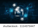 security cyber digital concept... | Shutterstock .eps vector #1114373447