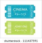 cinema  entrance tickets. | Shutterstock .eps vector #111437591