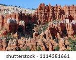 bryce canyon national park ... | Shutterstock . vector #1114381661