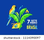 7 september. brazil... | Shutterstock .eps vector #1114390097