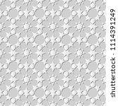 3d white paper art islamic... | Shutterstock .eps vector #1114391249