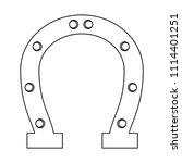 lucky horseshoe icon | Shutterstock .eps vector #1114401251