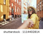 pov of a young woman smiling... | Shutterstock . vector #1114402814