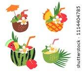 minimal summer trendy vector... | Shutterstock .eps vector #1114404785