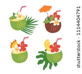 minimal summer trendy vector... | Shutterstock .eps vector #1114404791