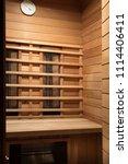interior of wooden sauna cabin... | Shutterstock . vector #1114406411