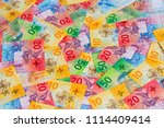 collection of the new swiss... | Shutterstock . vector #1114409414