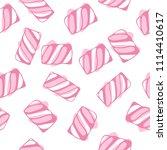 marshmallow twists seamless... | Shutterstock . vector #1114410617