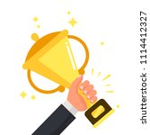 successful competitive winner... | Shutterstock .eps vector #1114412327
