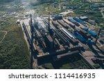 aluminum metallurgical plant... | Shutterstock . vector #1114416935