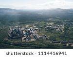aluminum metallurgical plant... | Shutterstock . vector #1114416941