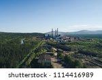 aluminum metallurgical plant... | Shutterstock . vector #1114416989