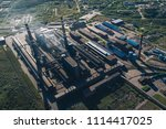 aluminum metallurgical plant... | Shutterstock . vector #1114417025