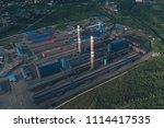 aluminum metallurgical plant... | Shutterstock . vector #1114417535