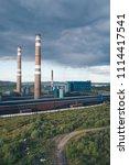 aluminum metallurgical plant... | Shutterstock . vector #1114417541