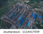 aluminum metallurgical plant... | Shutterstock . vector #1114417559
