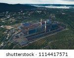 aluminum metallurgical plant... | Shutterstock . vector #1114417571