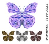 bright colorful butterflies.... | Shutterstock .eps vector #1114420661
