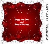 merry christmas and happy new...   Shutterstock .eps vector #1114421291