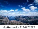 the norwegian lysefjord  a... | Shutterstock . vector #1114426979