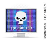 you hacked text on white... | Shutterstock .eps vector #1114430771