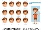 mouth boy animation. lip sync... | Shutterstock .eps vector #1114432397