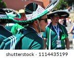 moscow  russia   june 17  fans ... | Shutterstock . vector #1114435199