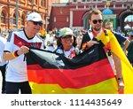 moscow  russia   june 17  fans... | Shutterstock . vector #1114435649