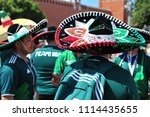moscow  russia   june 17  fans... | Shutterstock . vector #1114435655