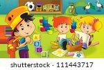 the cartoon kindergarten   fun... | Shutterstock . vector #111443717