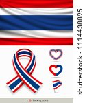 vector flag of thailand  and... | Shutterstock .eps vector #1114438895